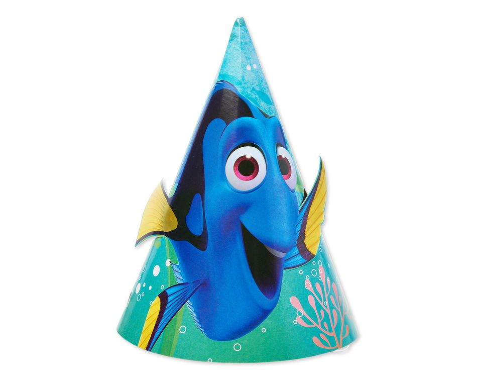 finding dory party hat 8 ct