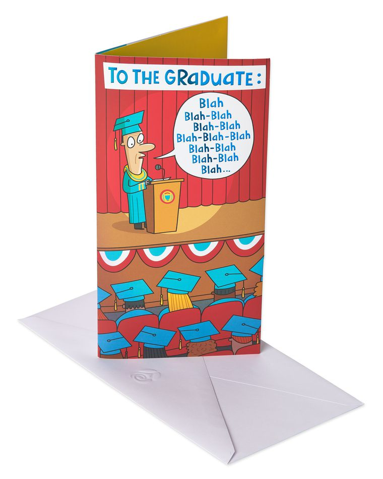 Blah Blah Blah Graduation Card