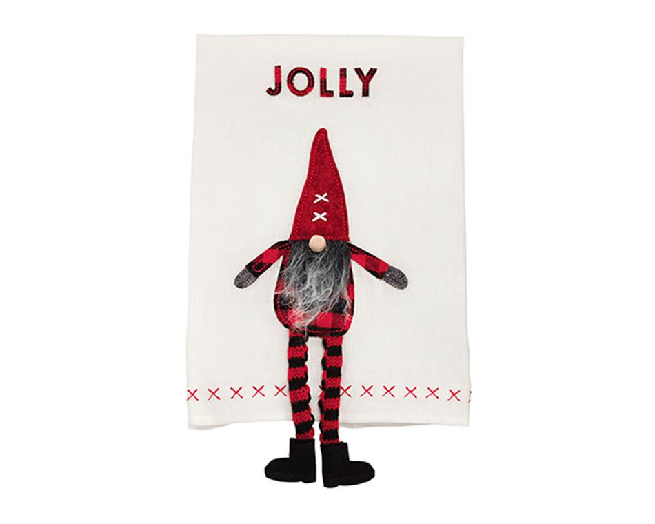 Mud Pie Jolly Dangle Leg Gnome Towel