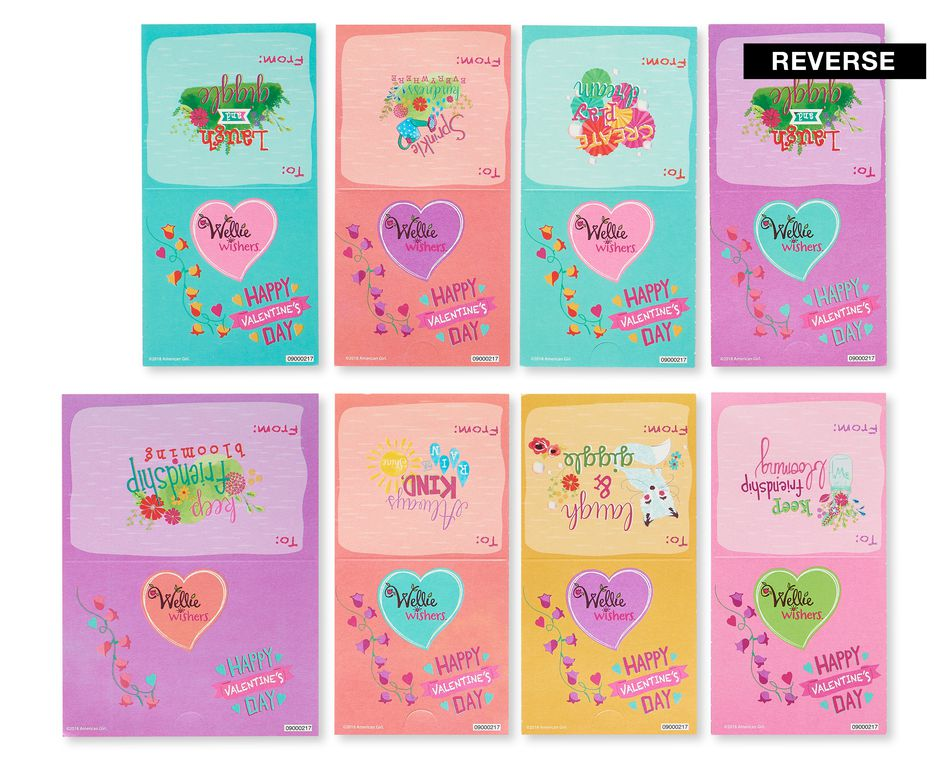 American Girl Wellie Wishers Valentine's Day Exchange Cards with Stickers,, 32-Count