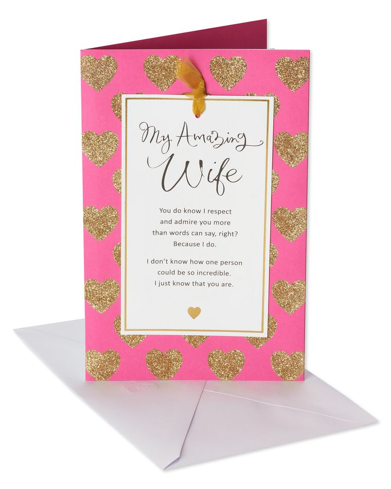 Hearts Anniversary Card for Wife
