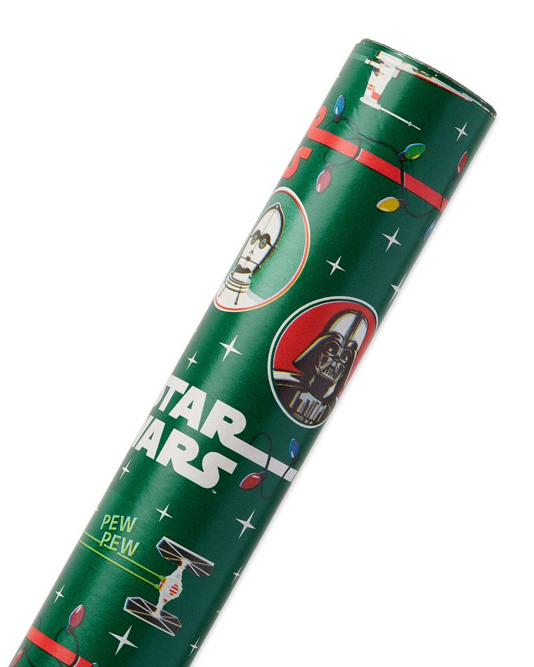 Star Wars Christmas Wrapping Paper, 22.5 Total Sq. Ft.