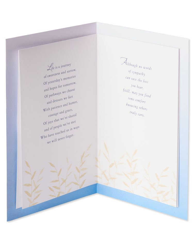 Never Forget Sympathy Card
