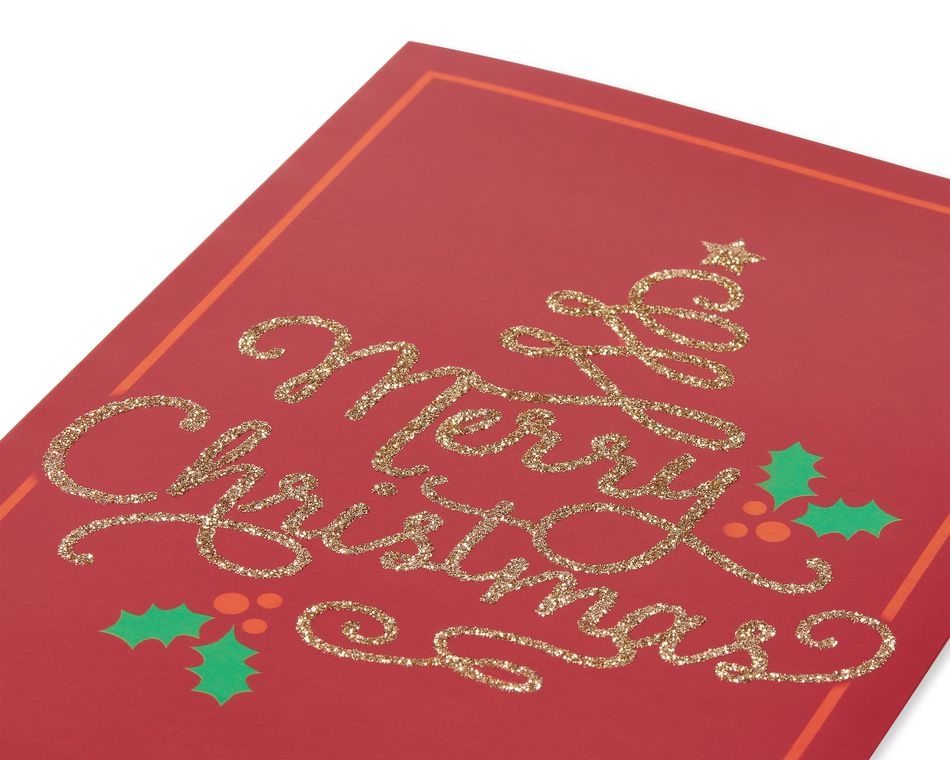 Merry Christmas with Holly Christmas Boxed Cards, 14 Count