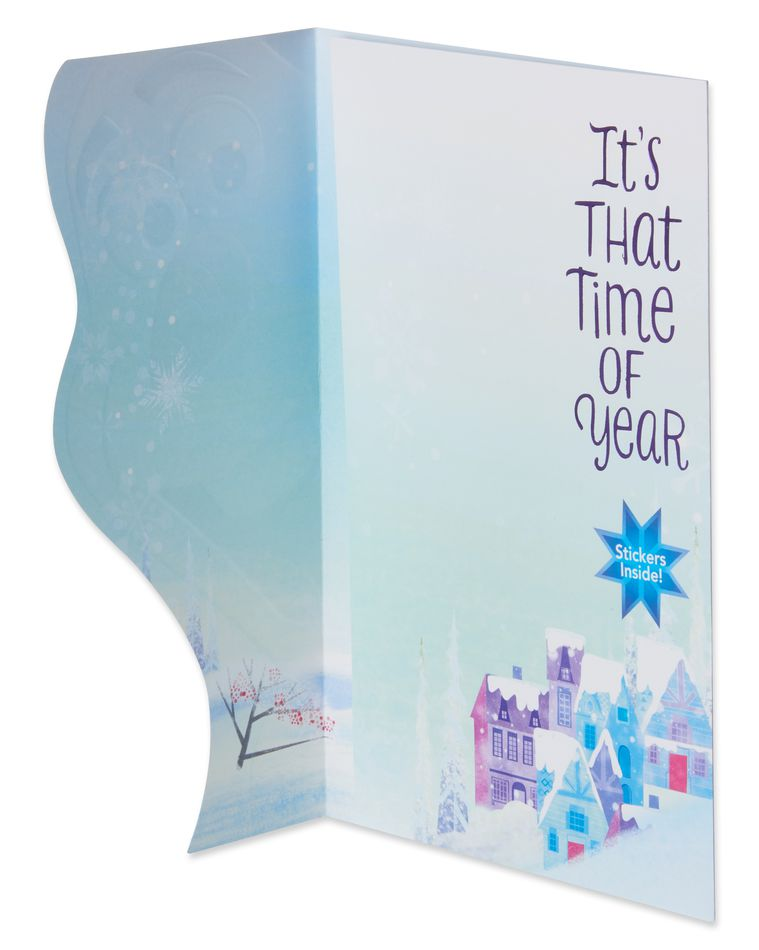 Frozen Olaf Christmas Card with Stickers