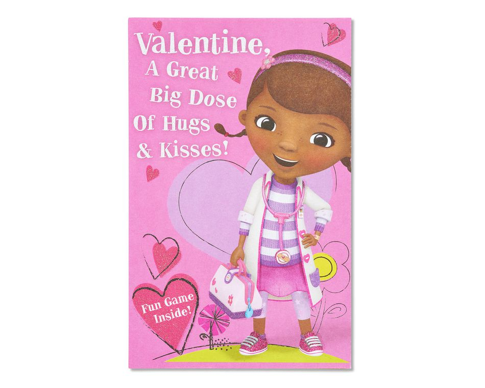 doc mcstuffins valentine's day card
