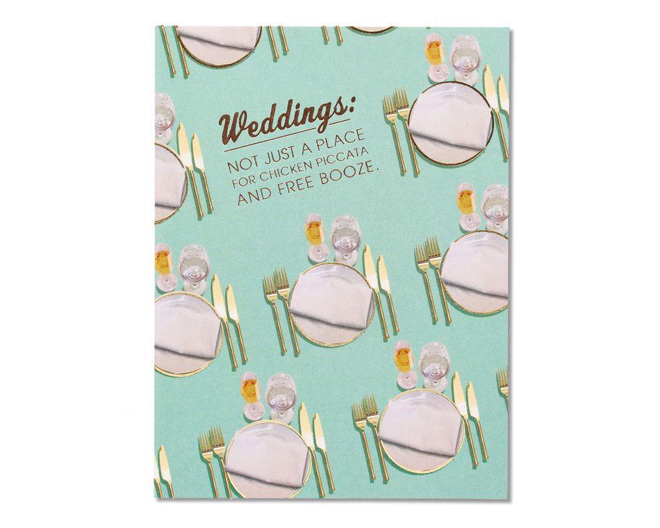 Free Booze Wedding Congratulations Card