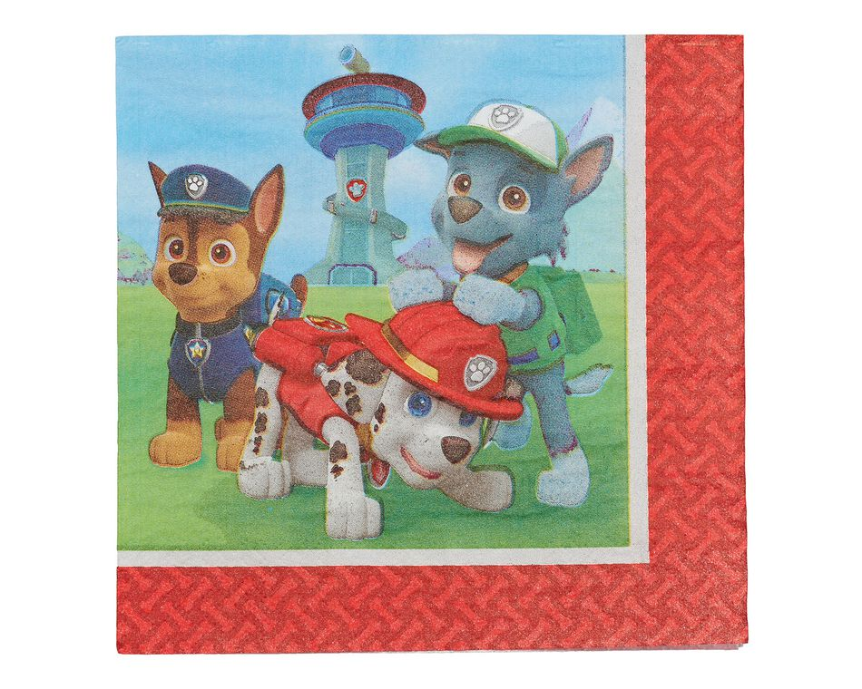 paw patrol lunch napkins 16 ct