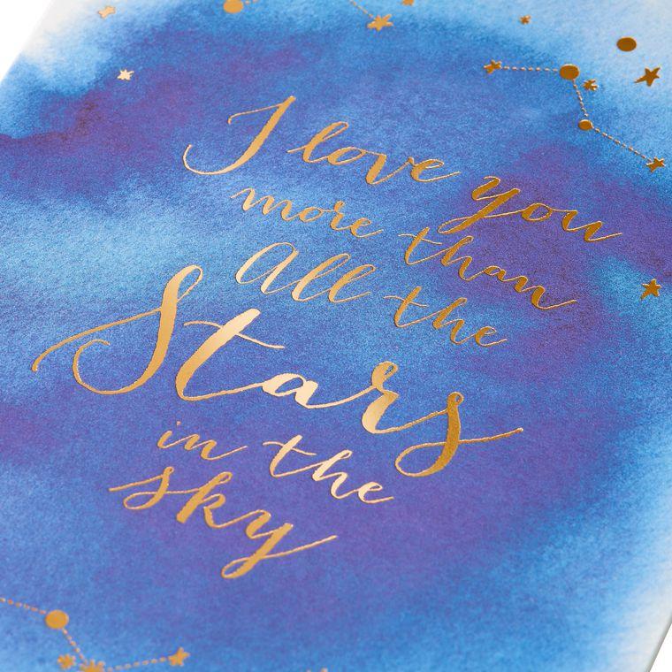 Romantic Stars Anniversary Greeting Card