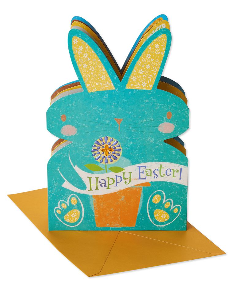 Blue Bunny Easter Card