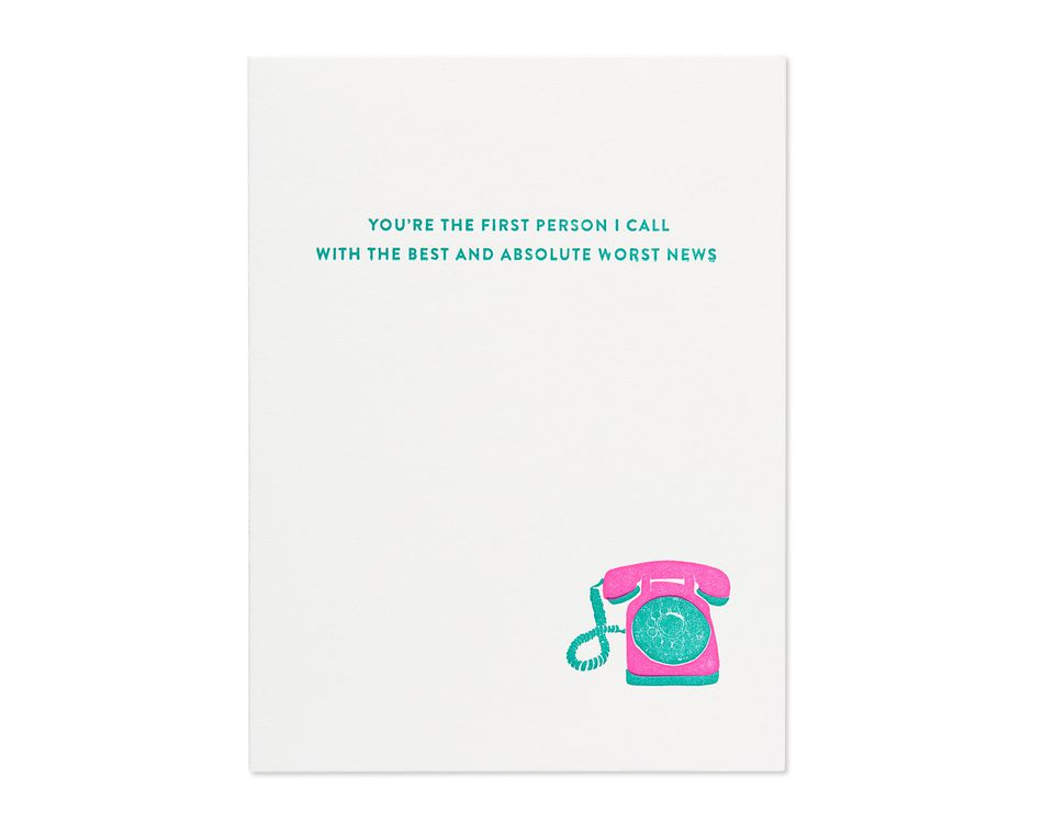 best and worst news mother's day card