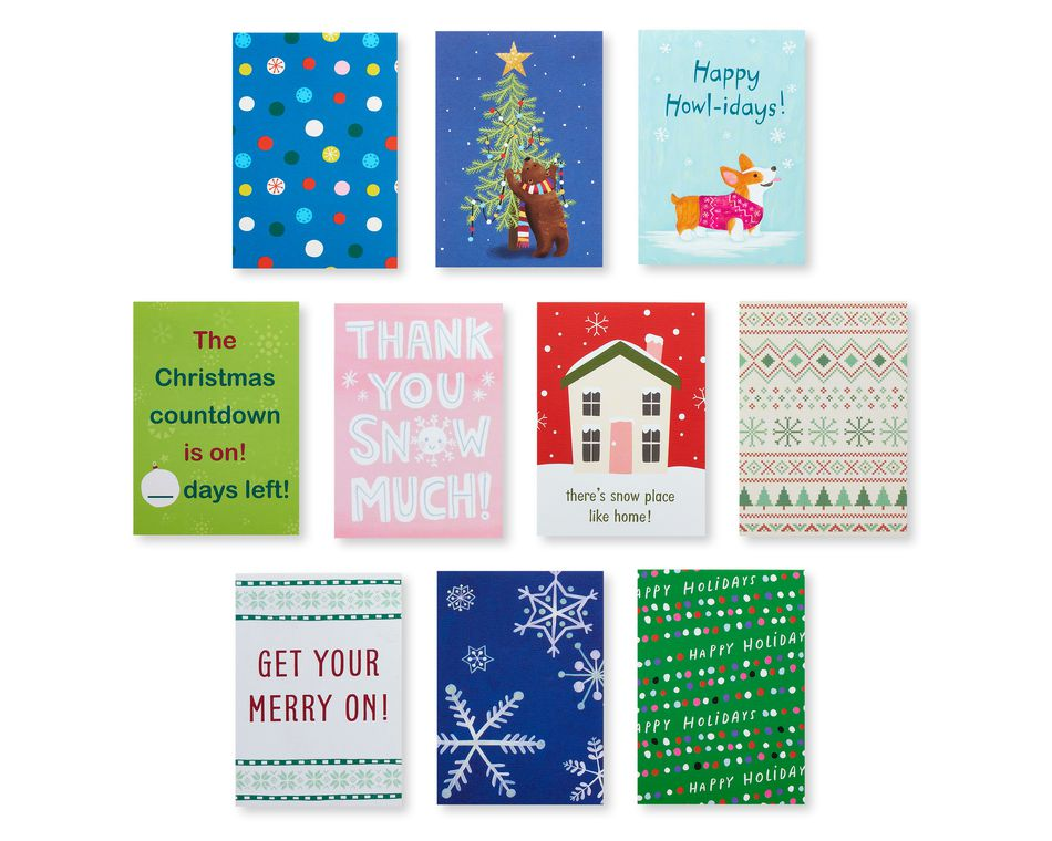 Holiday Lunch Box Mini Notes, 40-Count