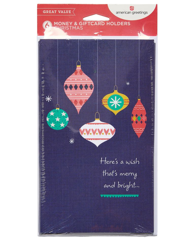 Ornaments Christmas Card, 6-Count