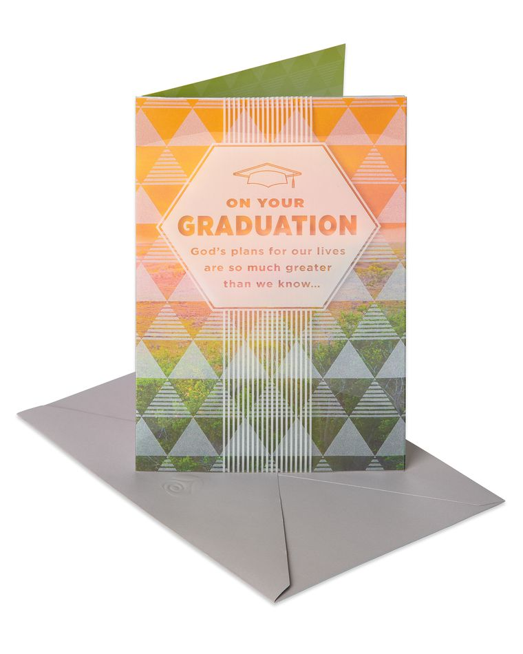 Religious God's Plan Graduation Card