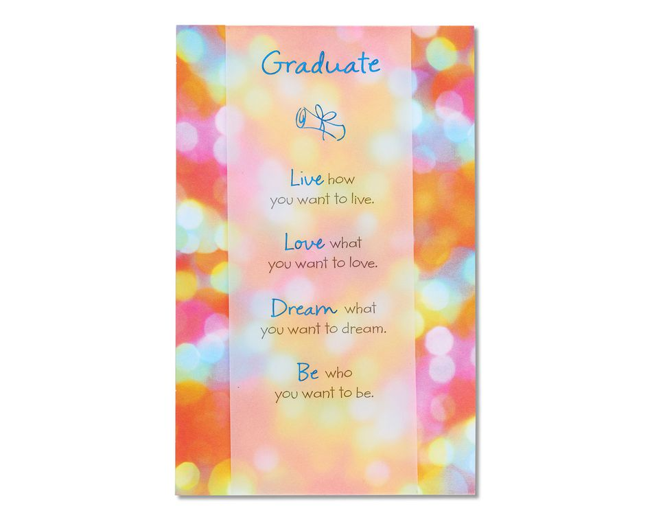live love dream be graduation card