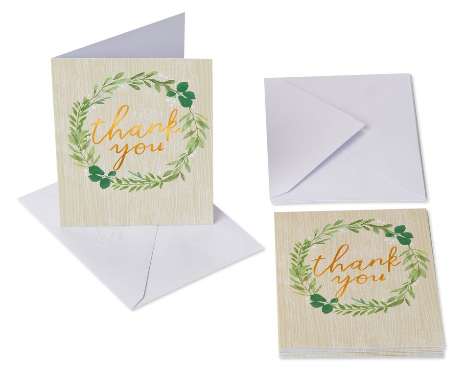 Thank You Wreath Cards and Envelopes, 10-Count