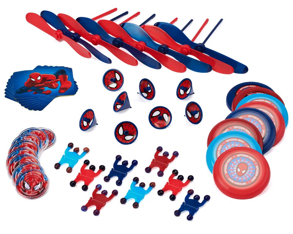 spider-man party favor value pack 8 ct