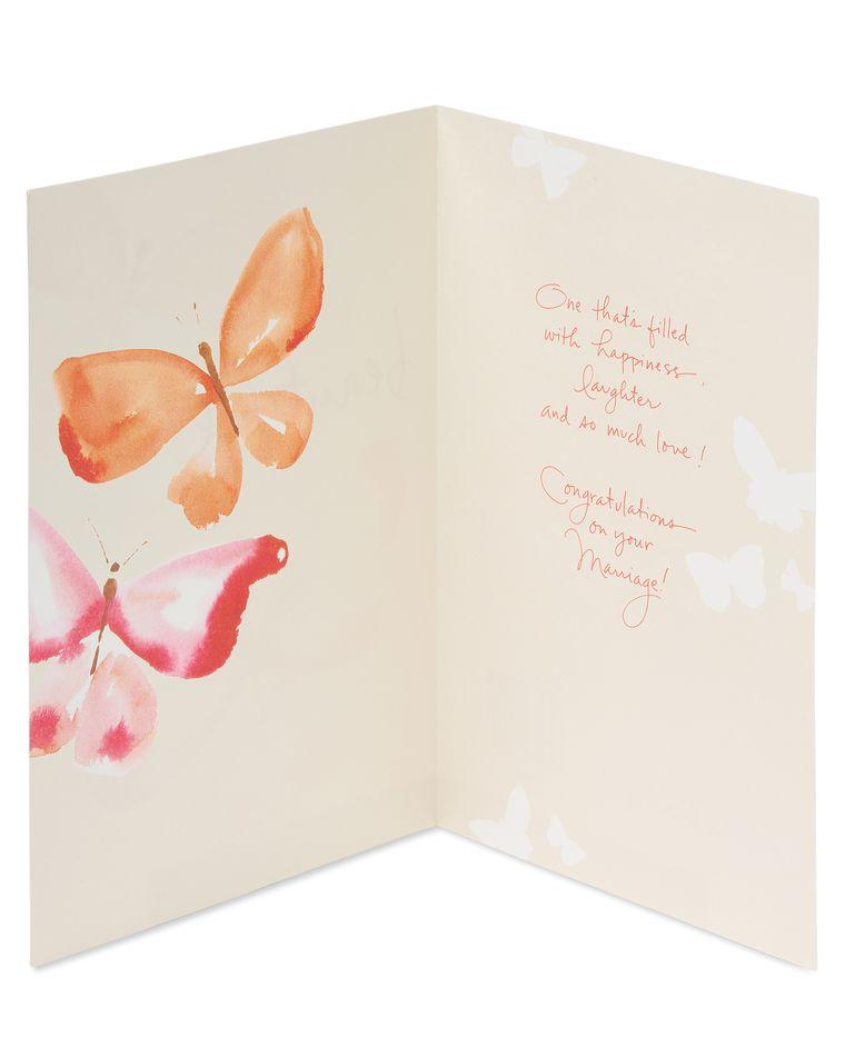 Kathy Davis Butterfly Wedding Card