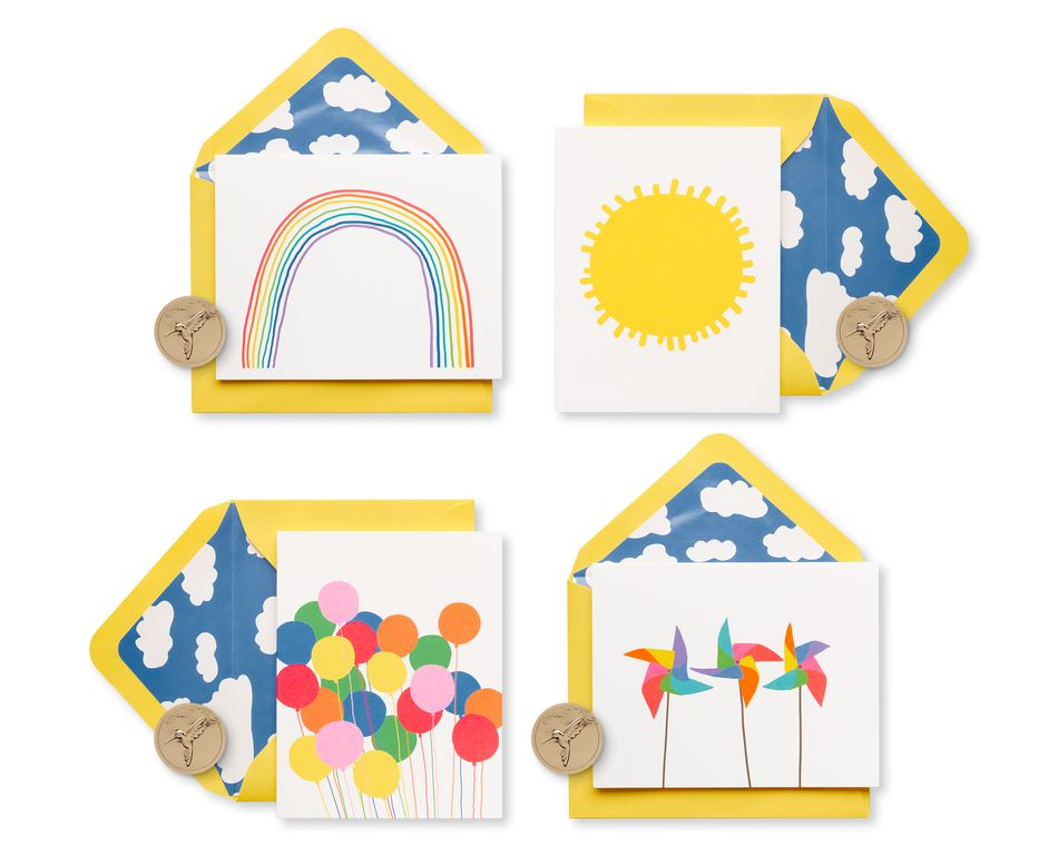 Little Box of Happy Keepsake Boxed Blank Cards and Envelopes, 20-Count