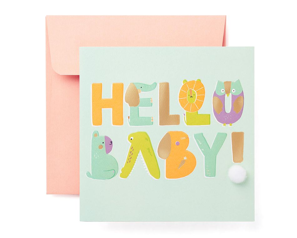 hello baby congratulations card