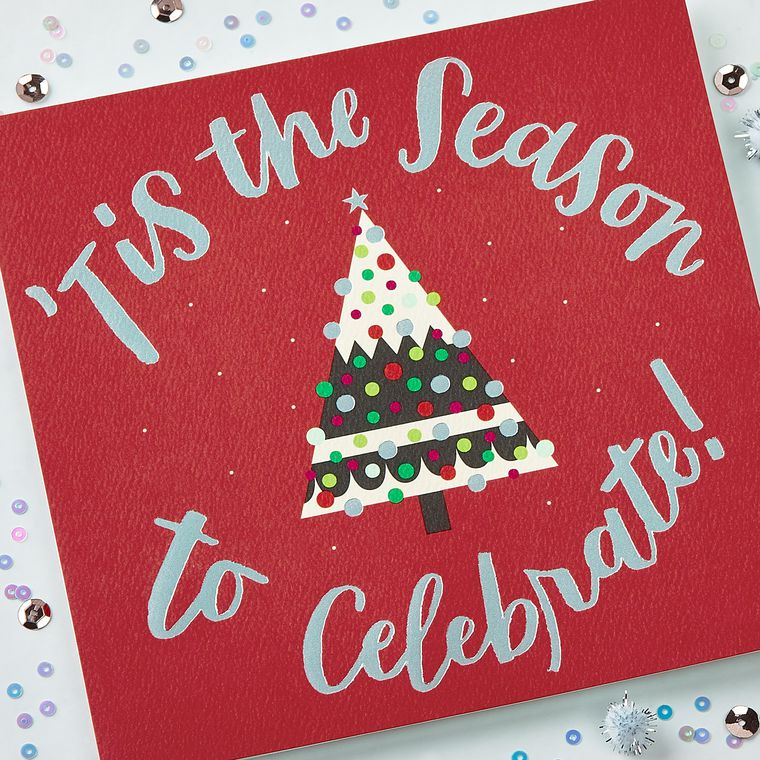 Celebrate Christmas and New Year Greeting Card