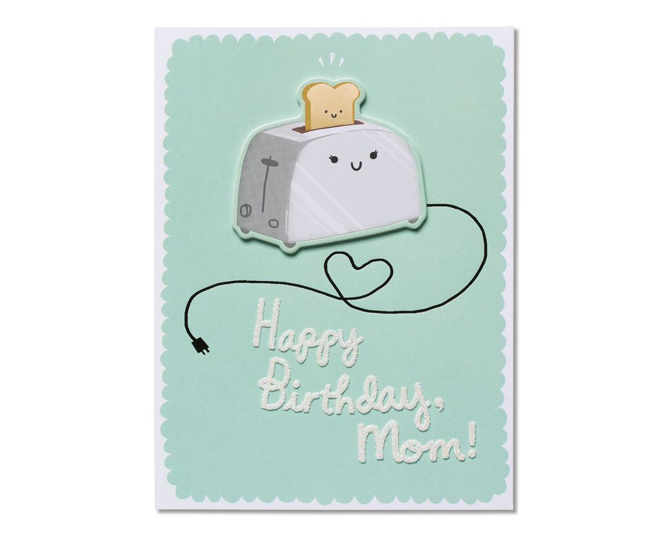 Awe Inspiring Toast Birthday Card For Mom American Greetings Personalised Birthday Cards Veneteletsinfo