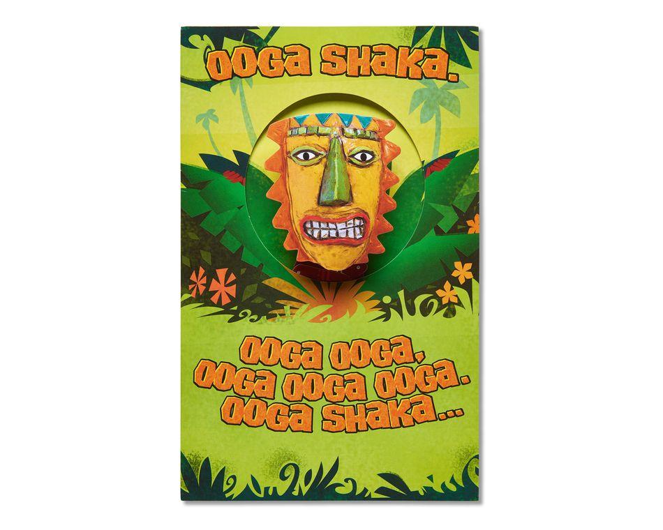 funny ooga shaka birthday card