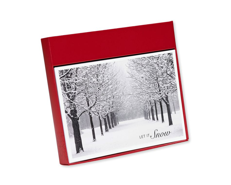 Let it Snow Holiday Boxed Cards, 14 Count