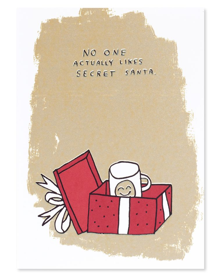 secret santa holiday card