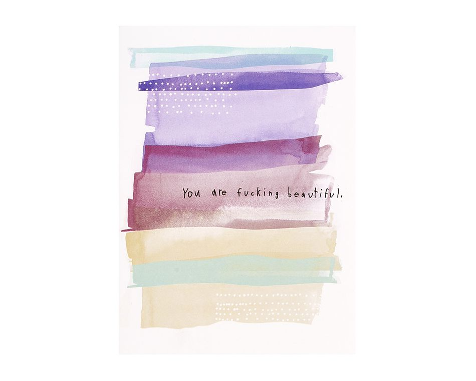You Are Beautiful Friendship Card