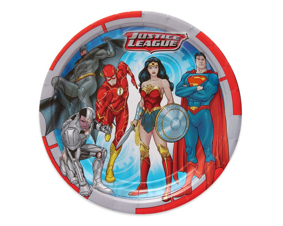 Justice League 8-Count Dessert Round Plates