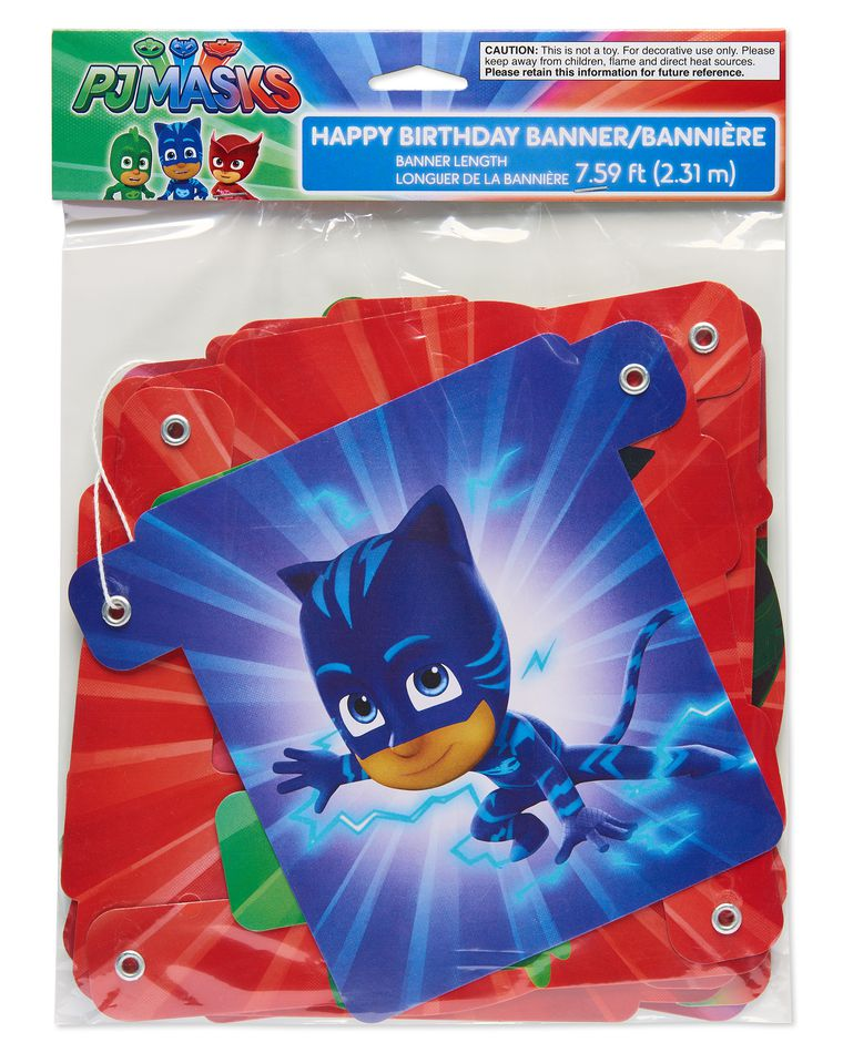 PJ Masks Hinge Birthday Party Banner