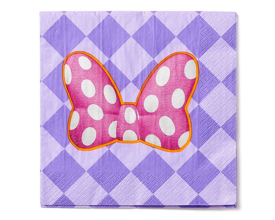 minnie mouse bow-tique lunch napkins 16 ct