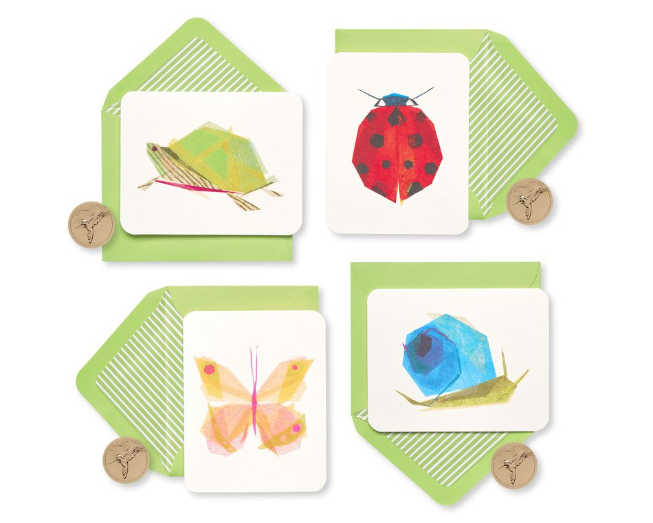 Garden Critters Keepsake Boxed Blank Cards and Envelopes, 20-Count