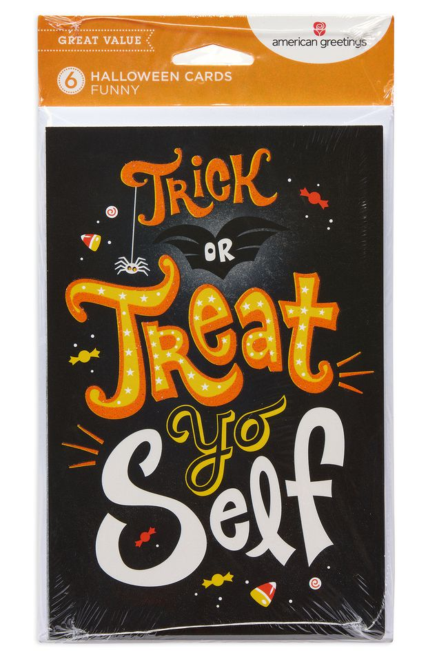 Treat Yo Self Halloween Card, 6-Count