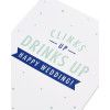 Clinks Up Wedding Card