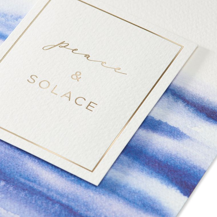 Peace and Solace Sympathy Greeting Card