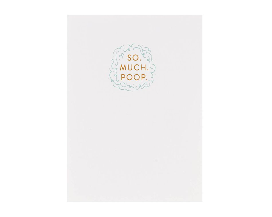 So Much Poop Baby Card