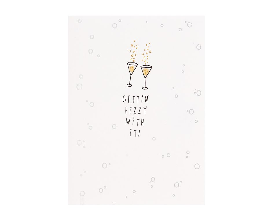 Fizzy With It Wedding Engagement Card
