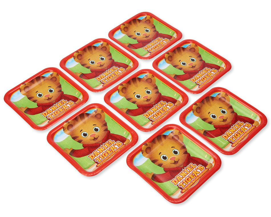 Daniel Tiger 8-Count Dinner Square Plate