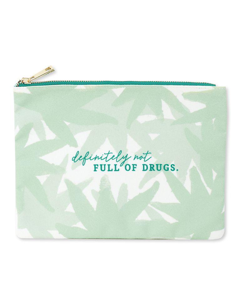 dbaa693e definitely not full of drugs zipper pouch - Paper Rebel