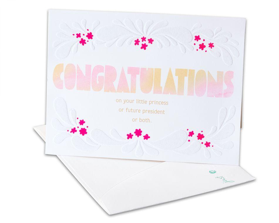 Amazing New Baby Girl Congratulations Card