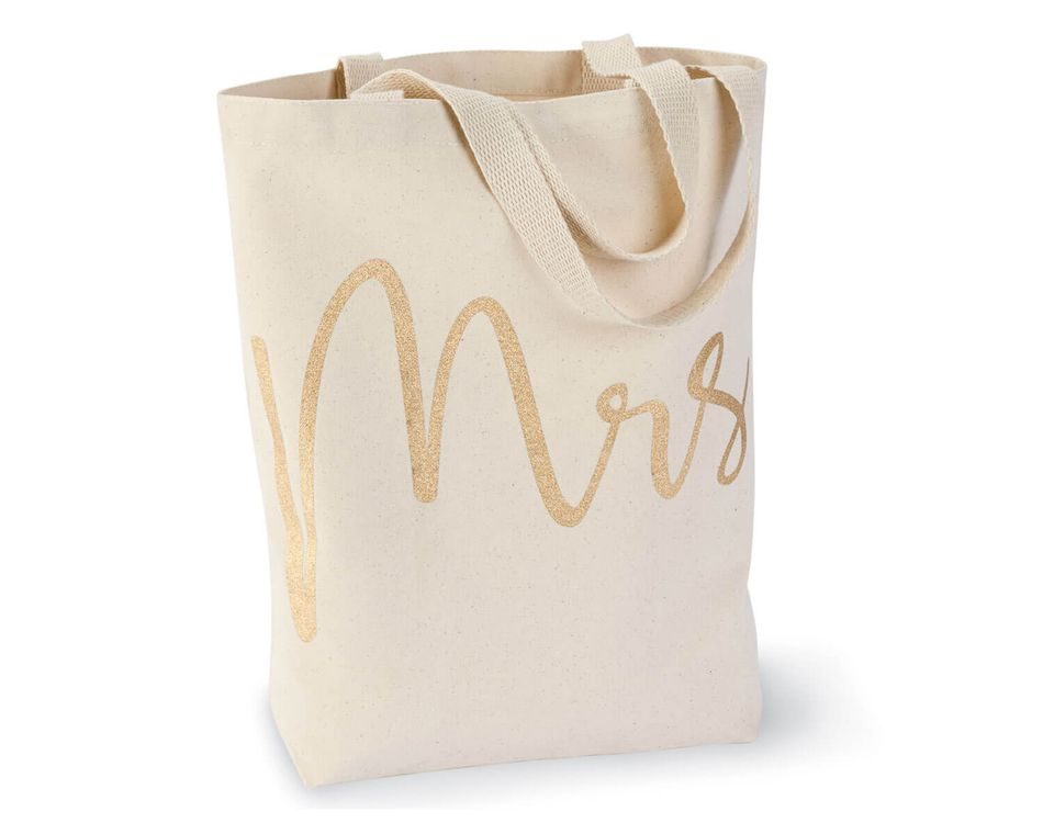 Mud Pie Mrs. Canvas Tote