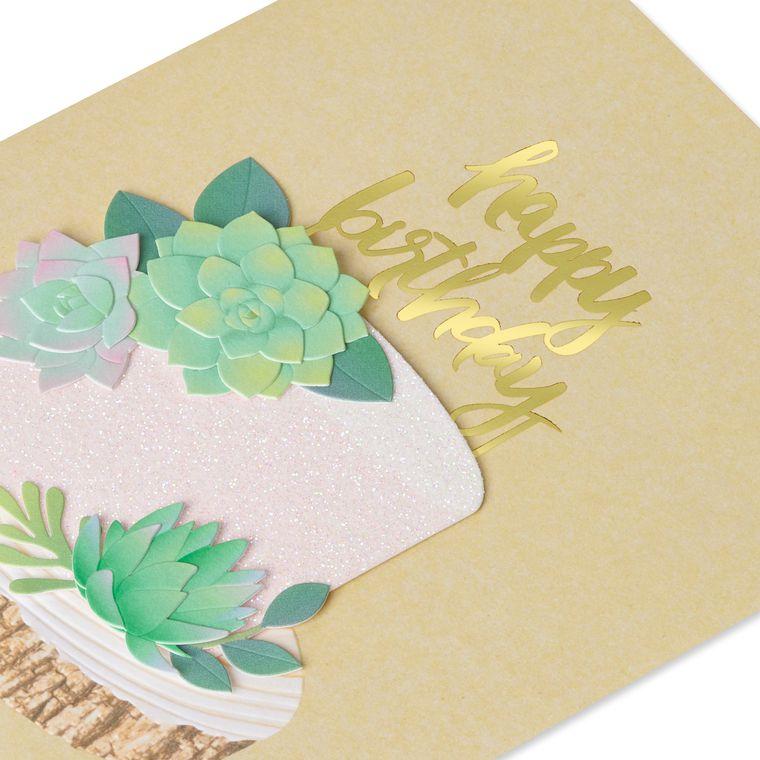 Succulents Birthday Greeting Card