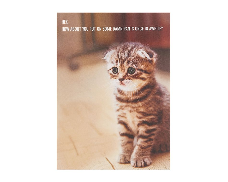 Put Pants On Thinking Of You Card