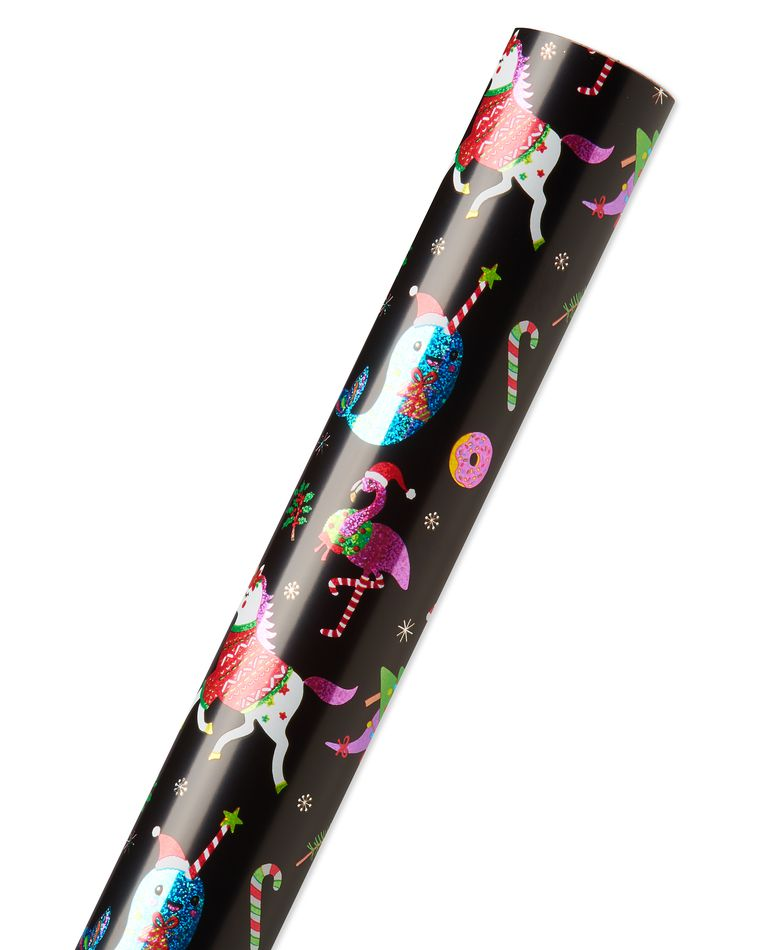 Llama and Dots Holiday Wrapping Paper