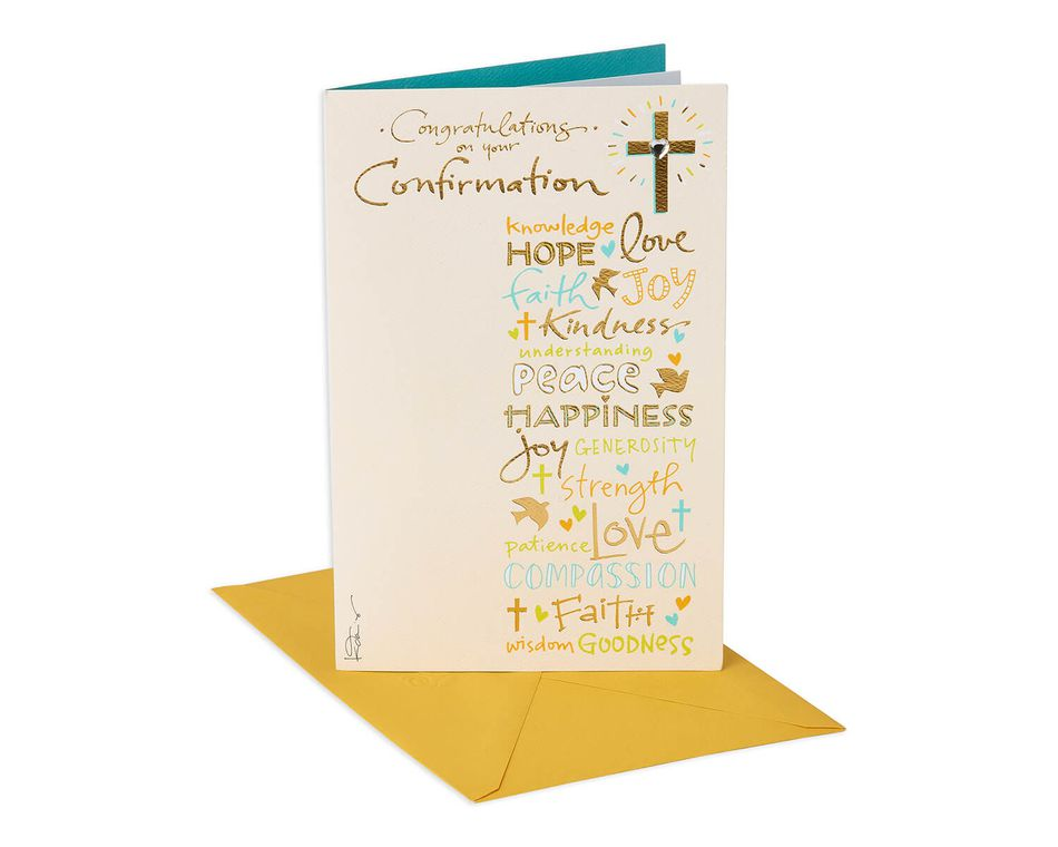Kathy Davis Cross Confirmation Card
