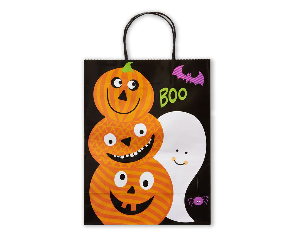 Medium Halloween Gift Bag, Spooky Friends