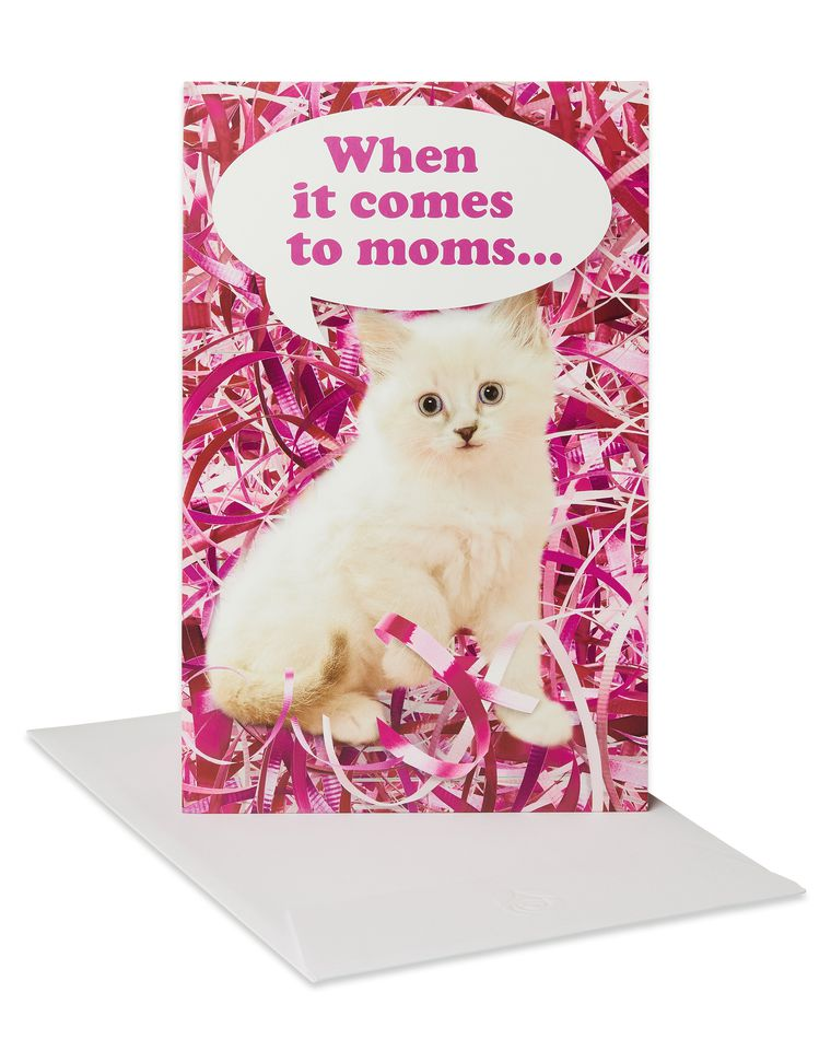 Funny Kitten Mother's Day Card