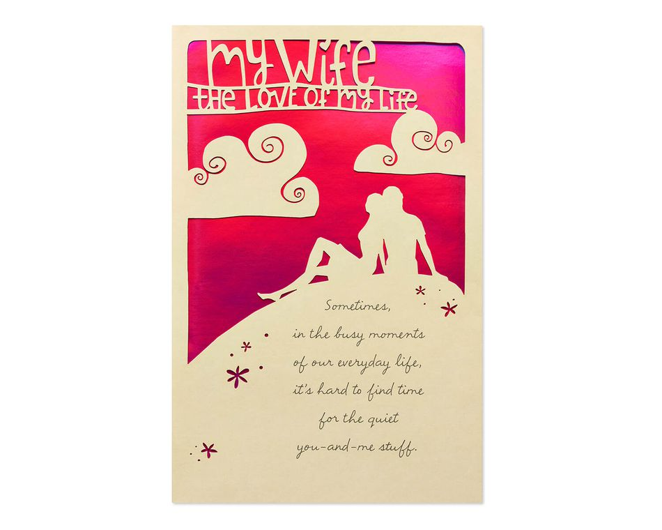 Love of My Life Anniversary Card for Wife